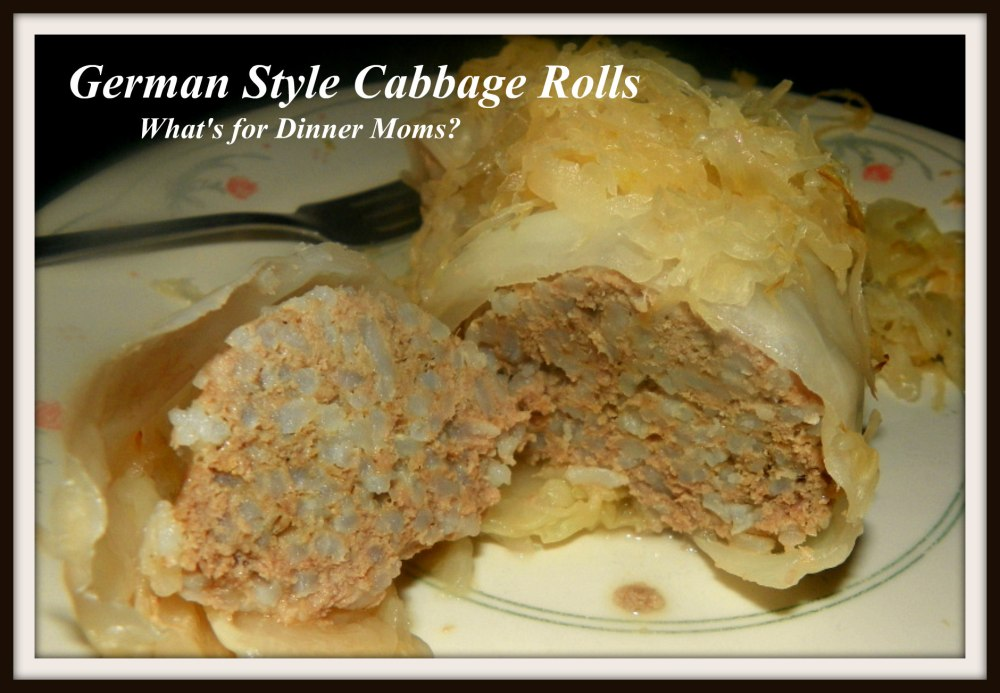 German Style Cabbage Rolls