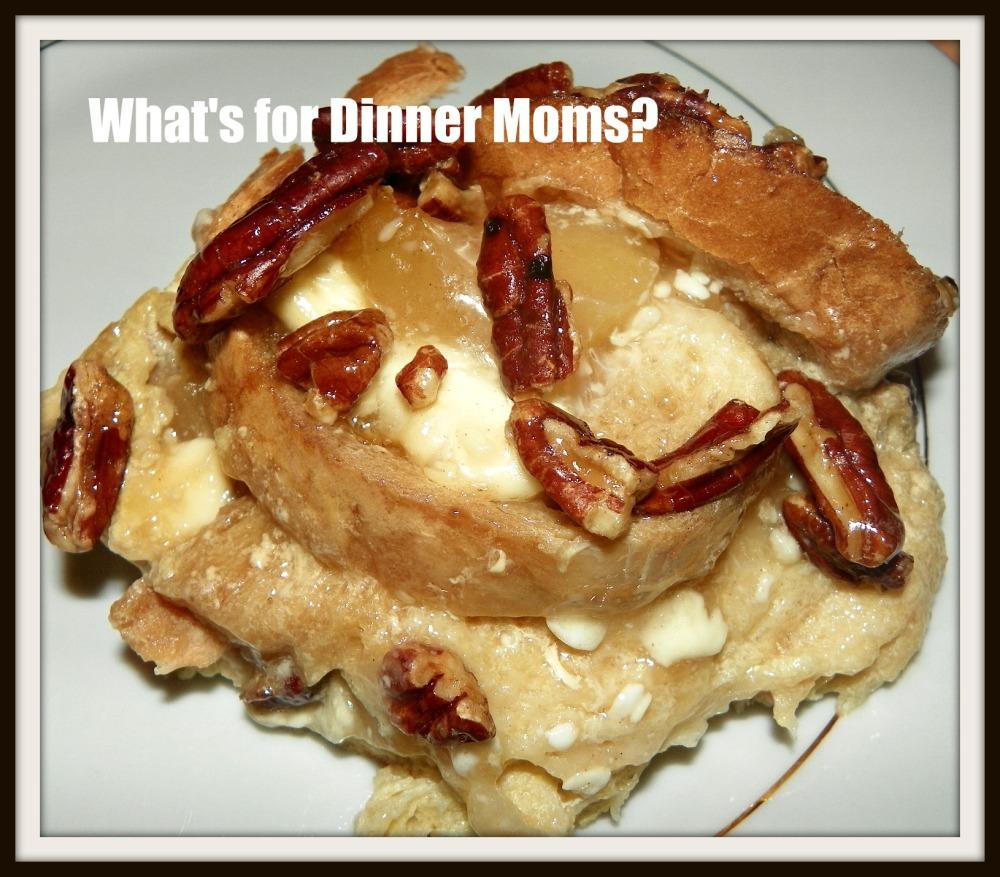 Apple Pie Praline French Toast Casserole Slice