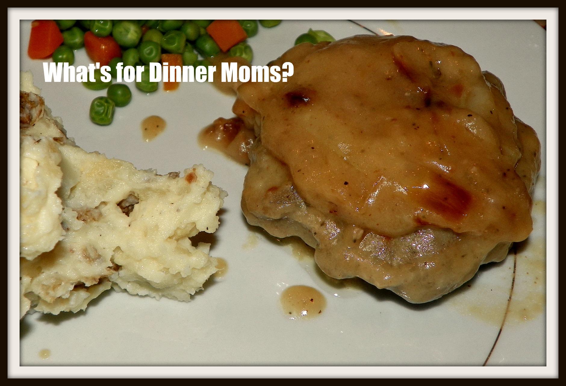 Hamburger Steaks with Onion Gravy | What's for Dinner Moms?