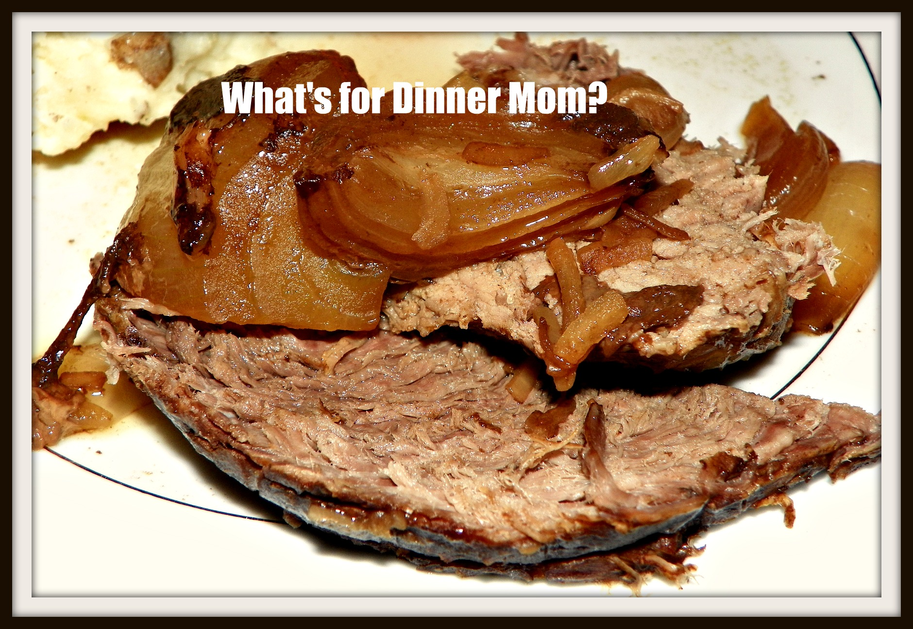 Balsamic Onion Slow Cooker Roast | What's for Dinner Moms?