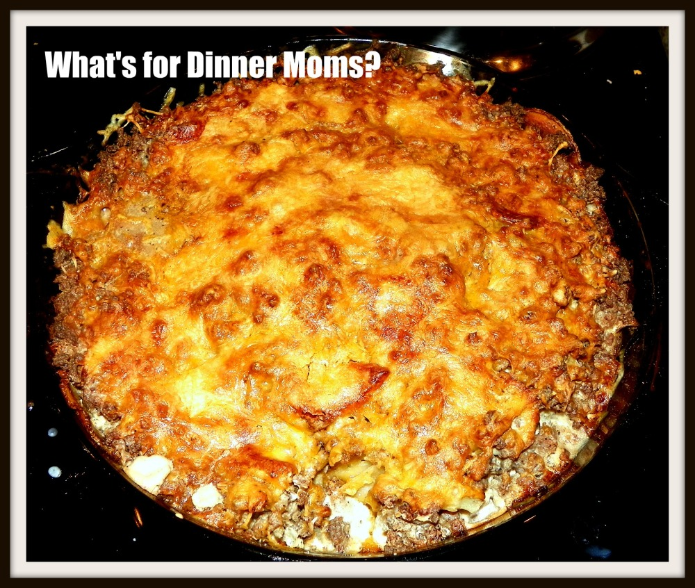 Scalloped Potatoes with Ground Beef Casserole