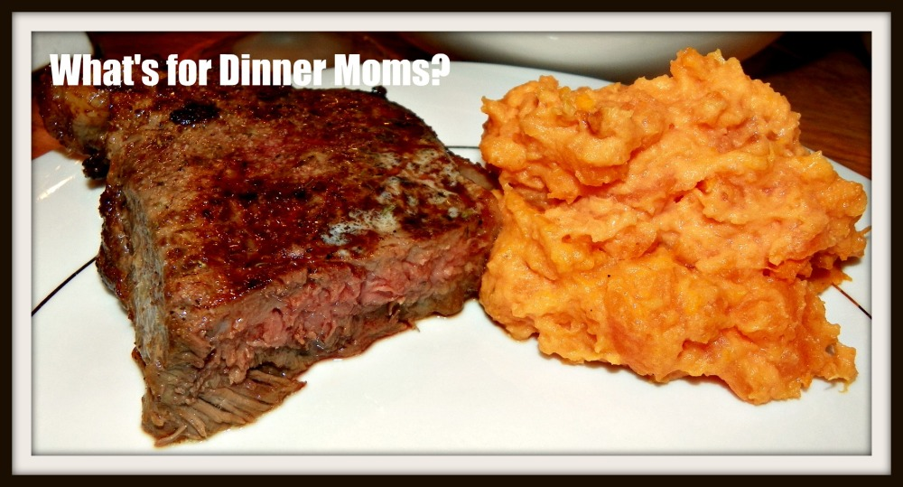Creamy Mashed Sweet Potatoes with Steak
