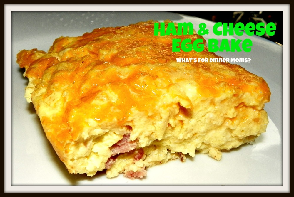 Ham & Cheese Egg Bake - plated