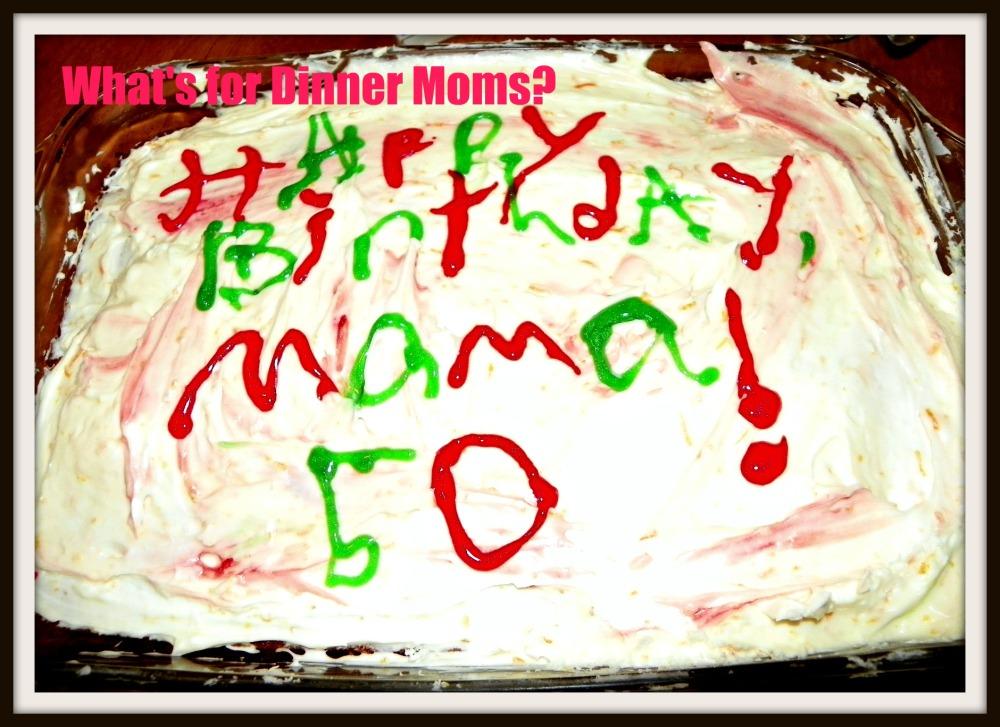 Orange Birthday Cake with Orange Cream Cheese Frosting