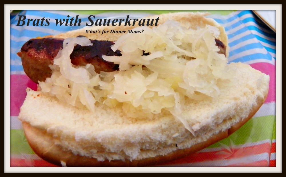 Brats with Sauerkraut
