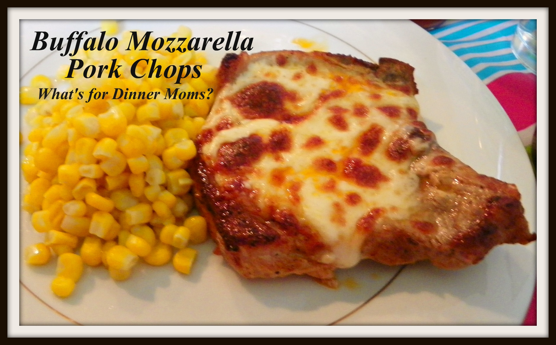 buffalo style mozzarella pork chops