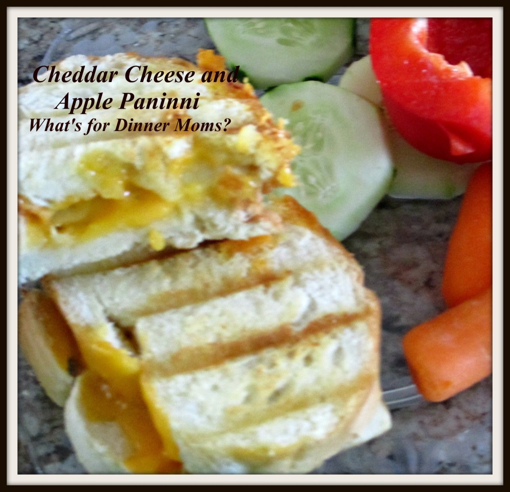 Cheddar Cheese and Apple Paninni