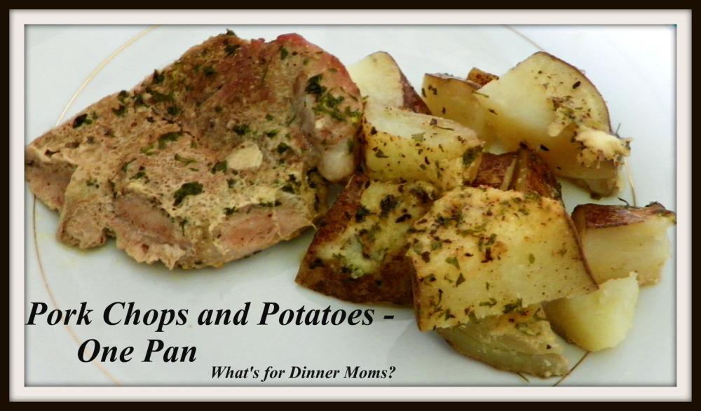 Pork Chops and Potatoes - Plated