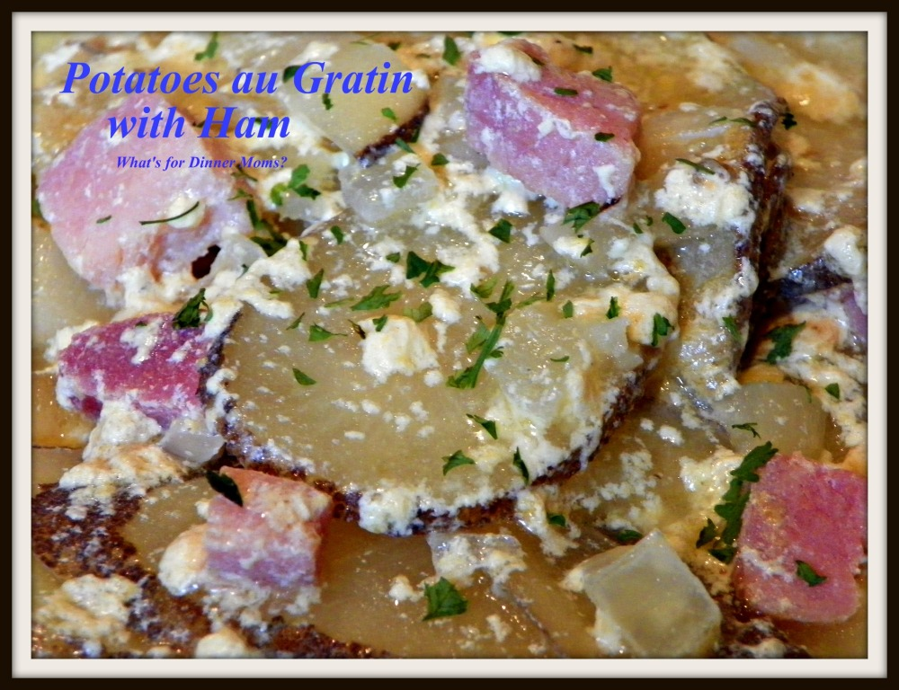 Potatoes au Gratin with Ham - plated