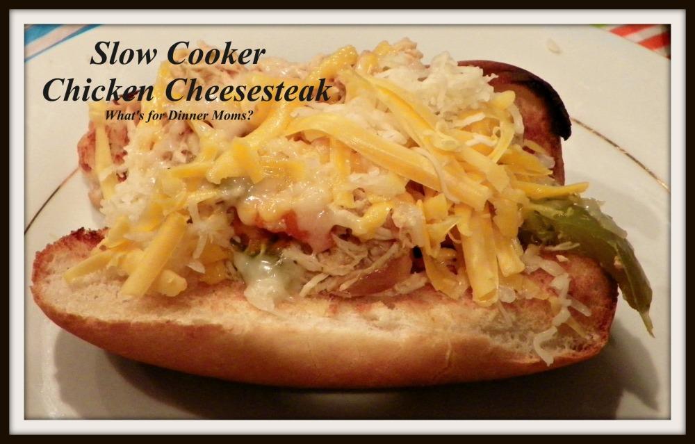 Slow Cooker Chicken Cheesesteak