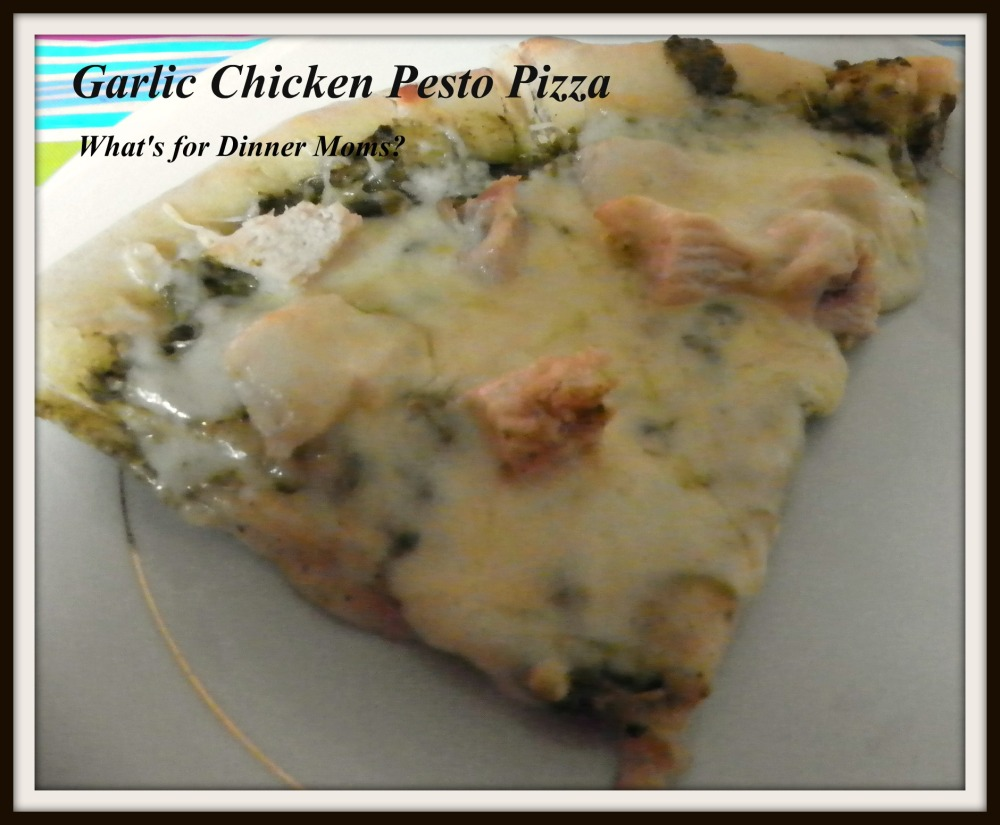 Garlic Chicken Pesto Pizza