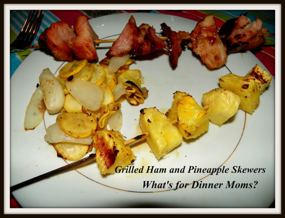 Grilled Ham and Pineapple Skewers