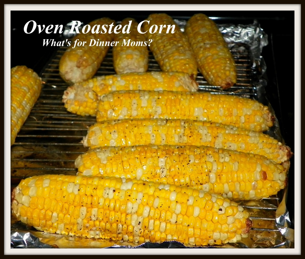 Oven Roasted Corn - Cooked