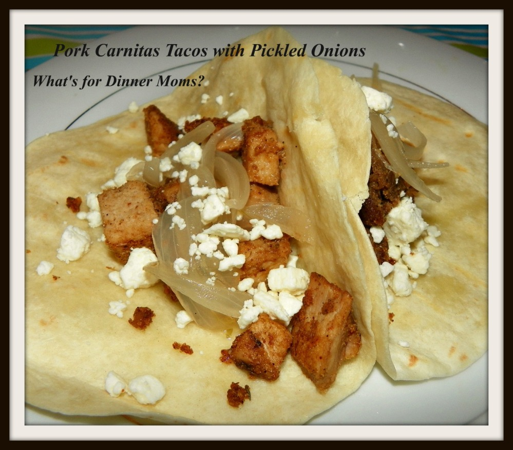 Pork Carnitas Tacos with Pickled Onions