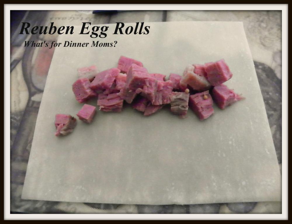 Reuben Egg Rolls - How to