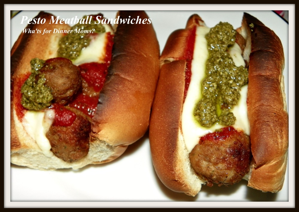 Pesto Meatball Sandwiches