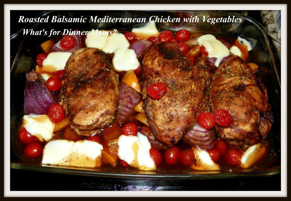 Roasted Balsamic Mediterranean Chicken