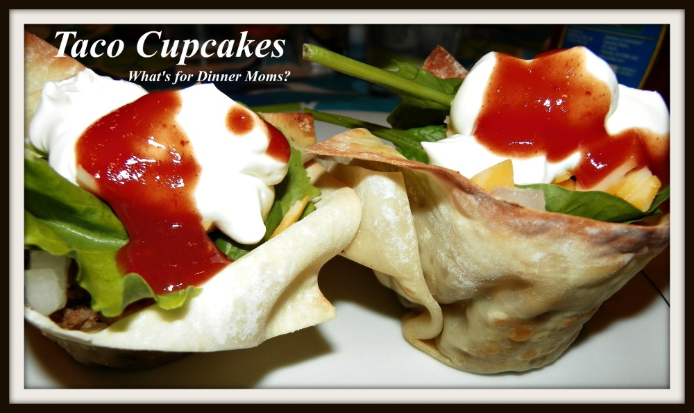 Taco Cupcakes - What's for Dinner Moms