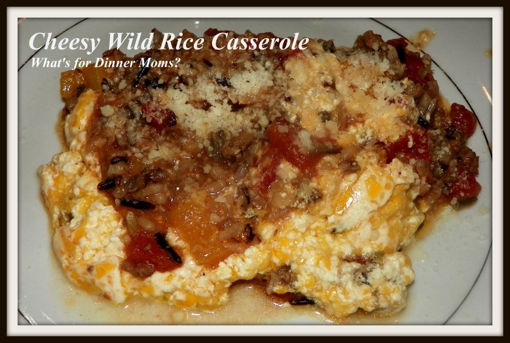 Cheesy Wild Rice Casserole