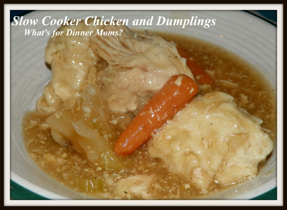 Slow Cooker Chicken and Dumplings - What's for Dinner Moms