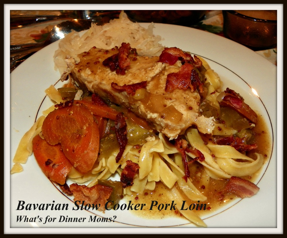 Bavarian Slow Cooker Pork Loin - What's for Dinner Moms