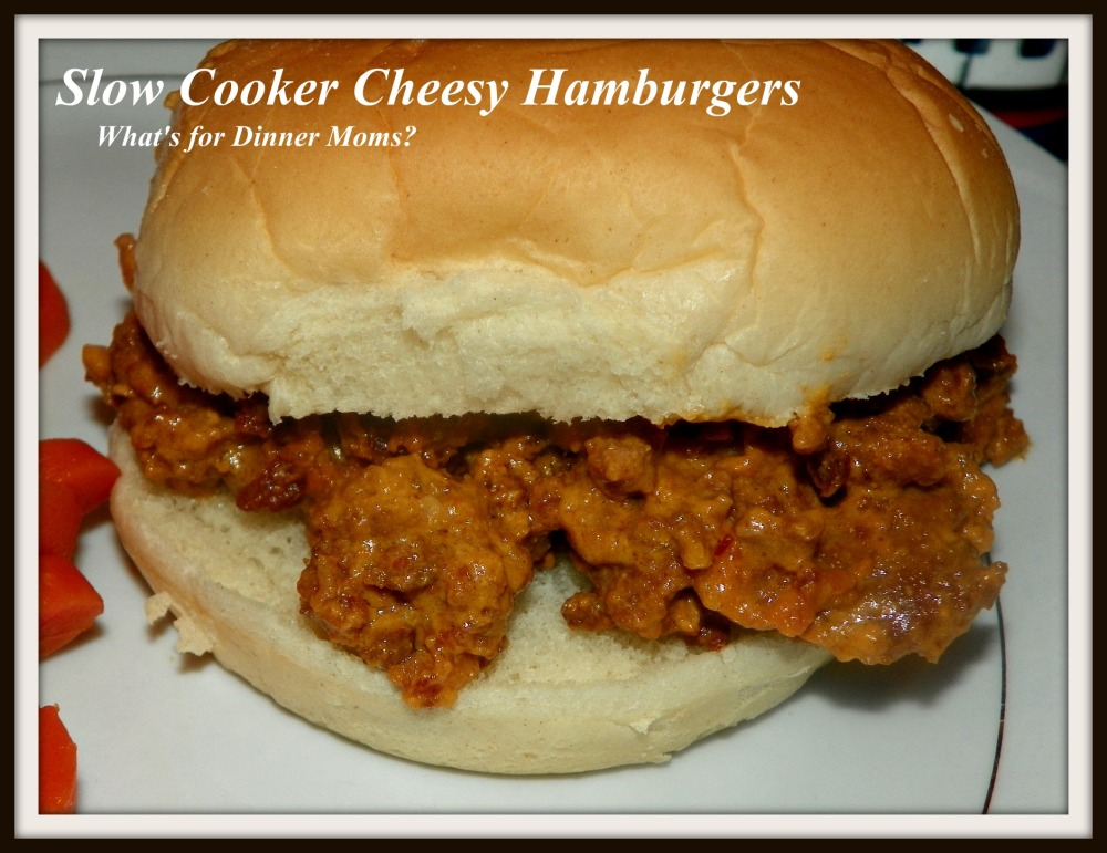 Slow Cooker Cheesy Hamburgers