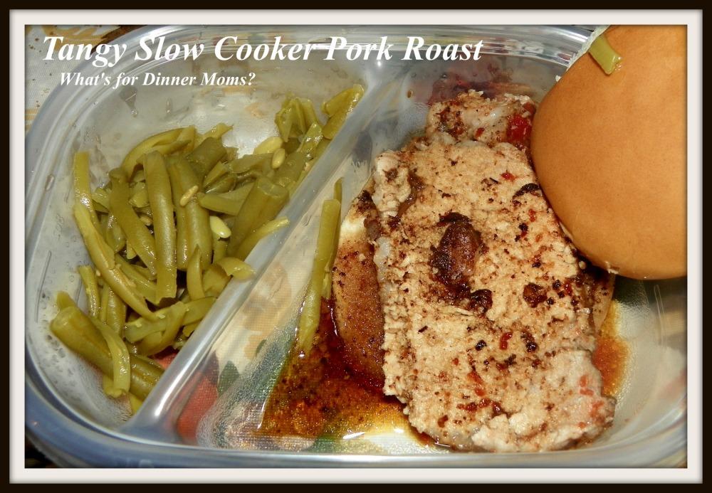 Tangy Slow Cooker Pork Roast - What's for Dinner Moms