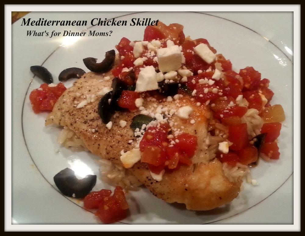 Mediterranean Chicken Skillet (plated)