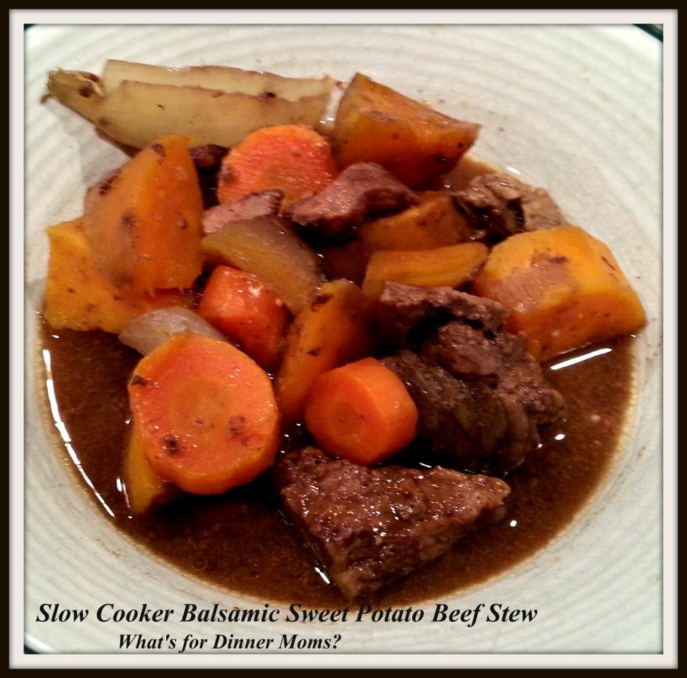Slow Cooker Balsamic Sweet Potato Beef Stew
