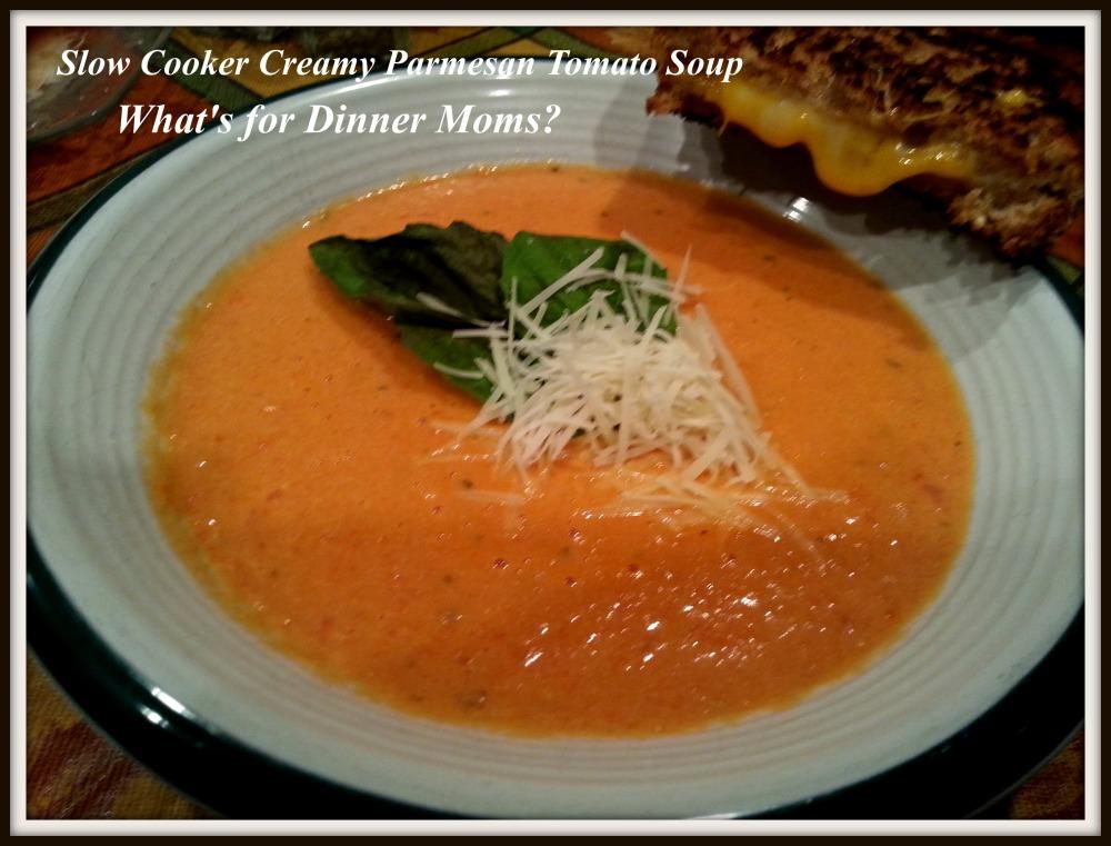 Slow Cooker Creamy Parmesan Tomato Soup