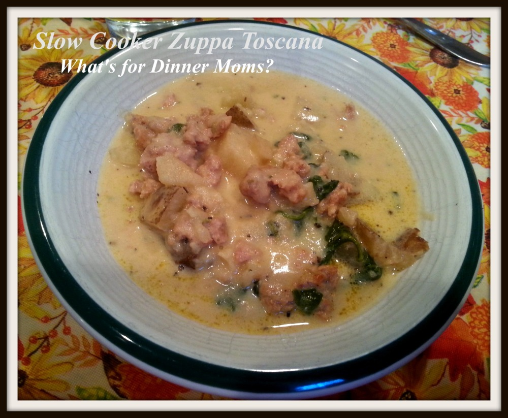 Slow Cooker Zuppa Toscana - What's for Dinner Moms