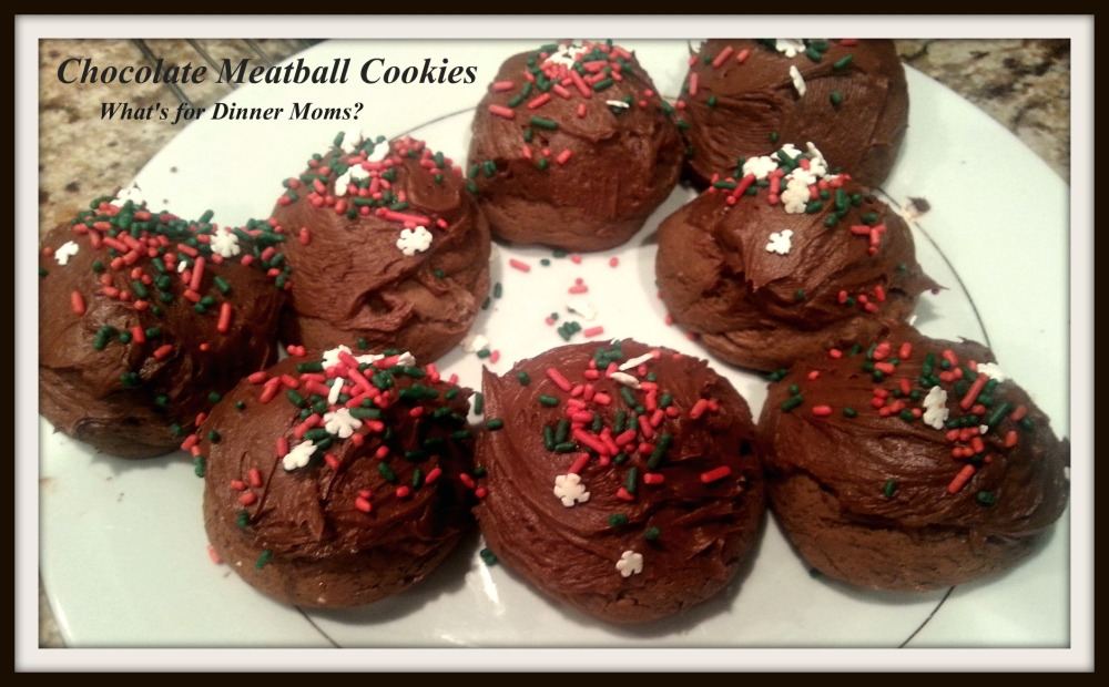 Chocolate Meatball Cookies
