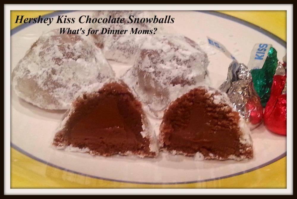 Hershey Kiss Chocolate Snowballs