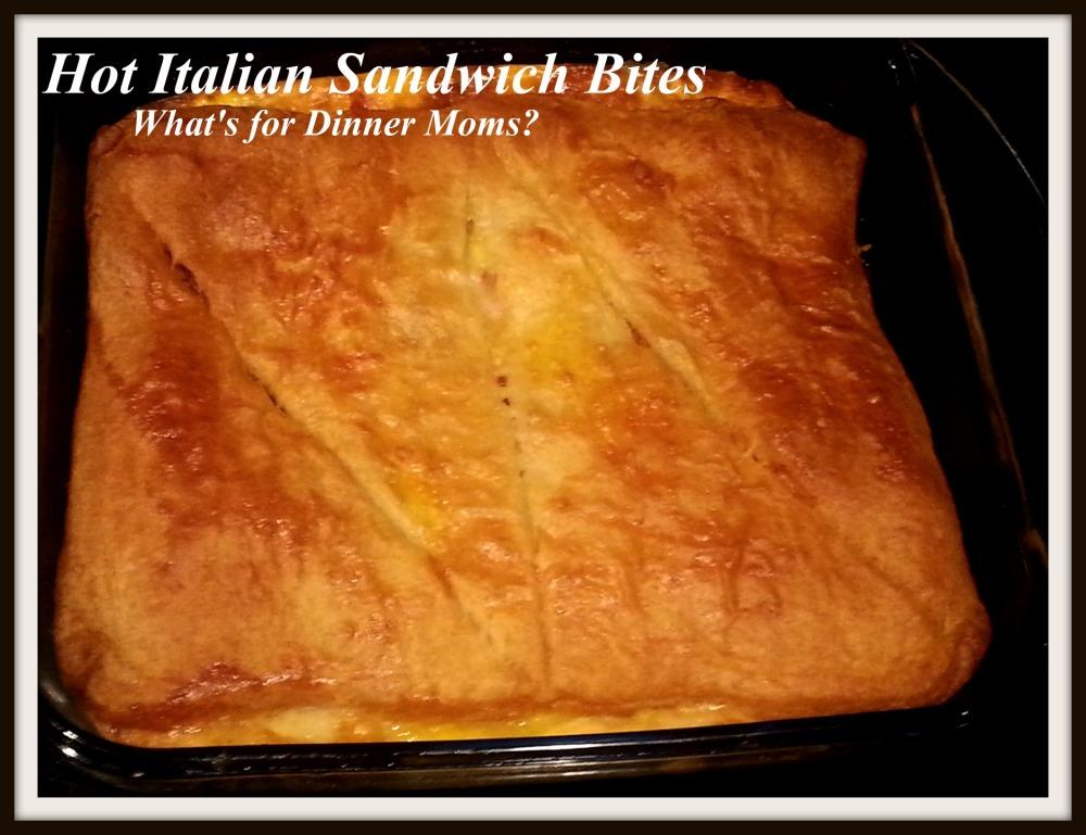 Hot Italian Sandwich Bites (un-cut)