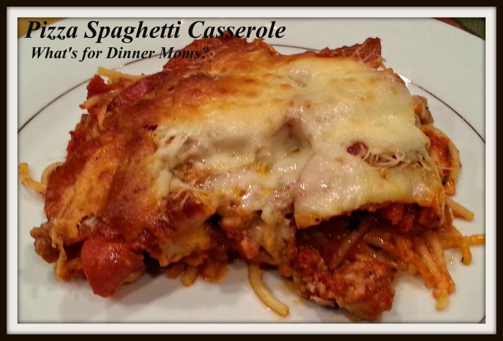 Pizza Spaghetti Casserole (plated)
