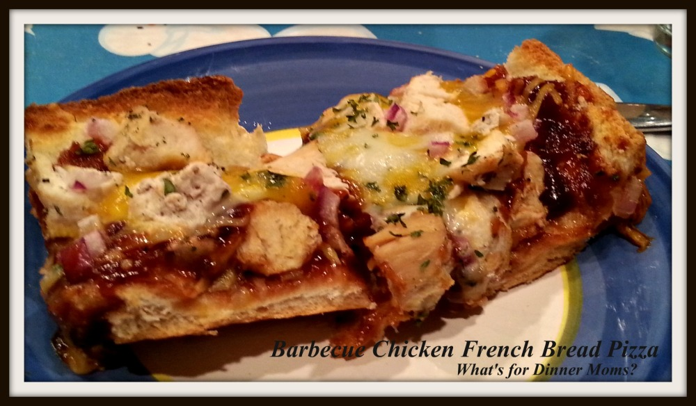 Barbecue Chicken French Bread Pizza (Plated)