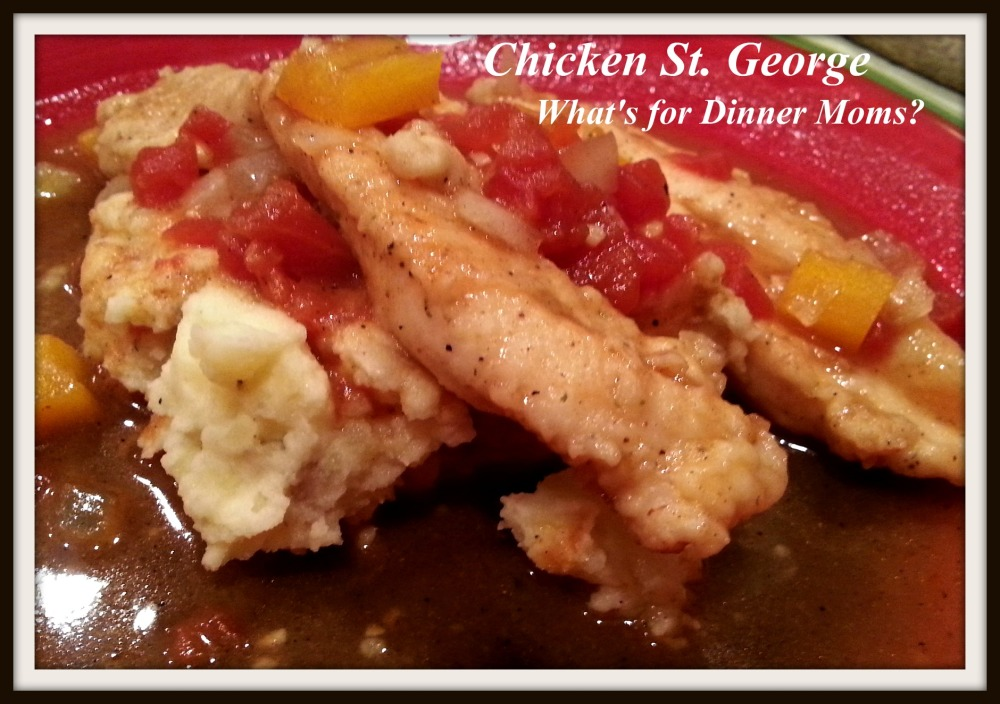 Chicken St. George - What's for Dinner Moms