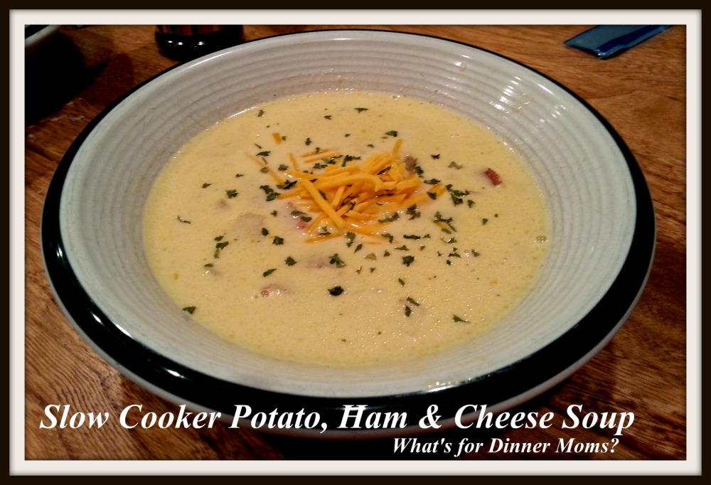 Slow Cooker Potato, Ham and Cheese Soup