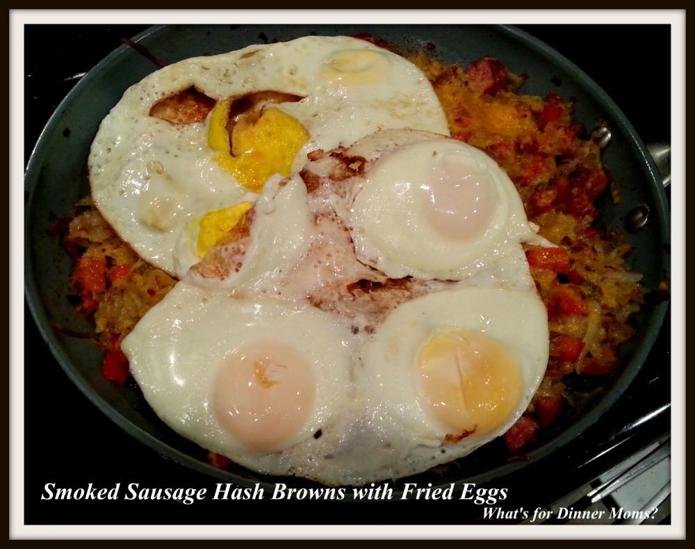 Smoked Sausage Hash Browns with Fried Eggs