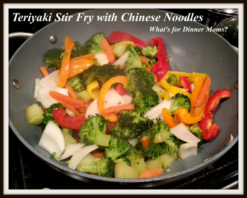 Teriyaki Stir Fry with Chinese Noodles - What's for Dinner Moms