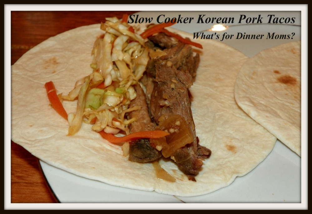 Slow Cooker Korean Pork Tacos