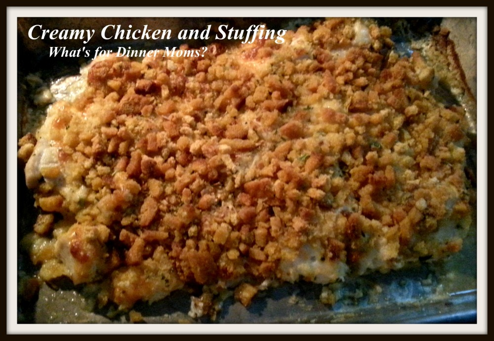 Creamy Chicken and Stuffing (pan) - What's for Dinner Moms