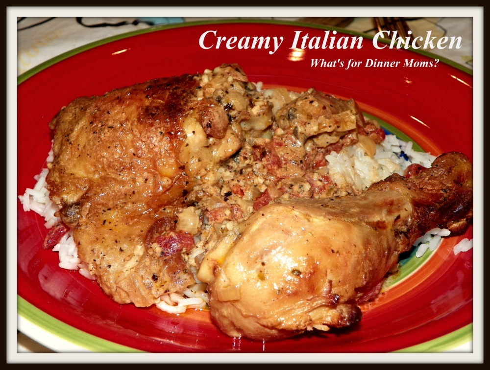 Creamy Italian Chicken - plated