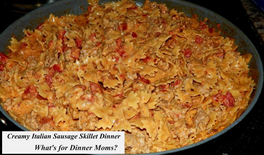 Creamy Italian Sausage Skillet Dinner
