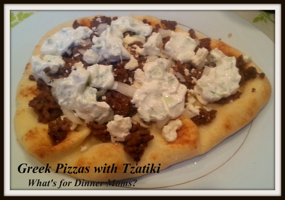 Greek Pizzas with Tzatiki