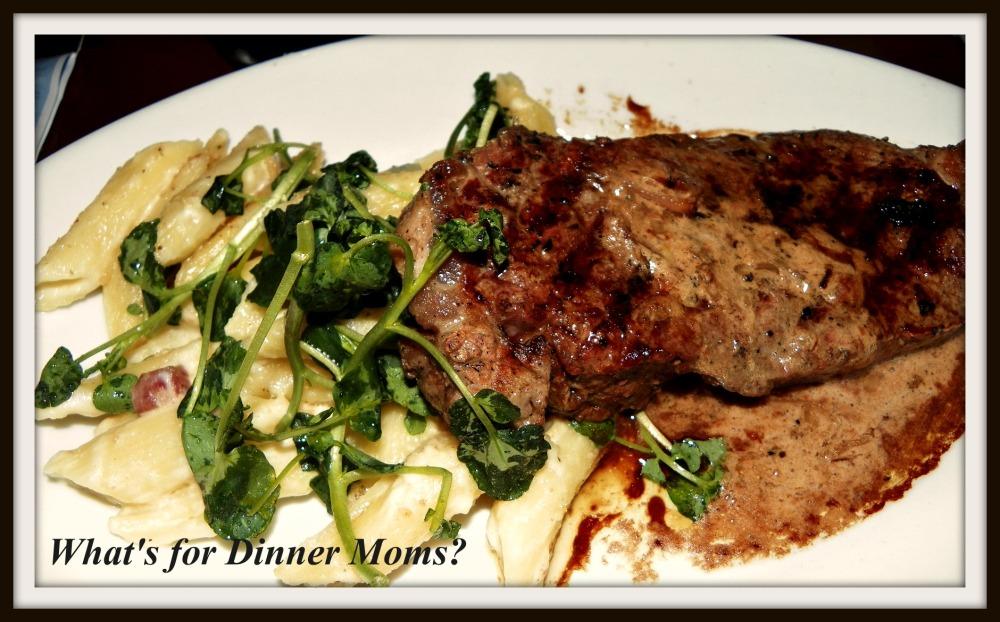 Steak with microgreens