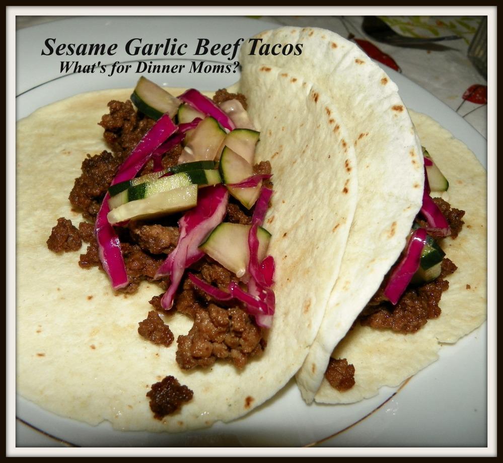 Sesame Garlic Beef Tacos