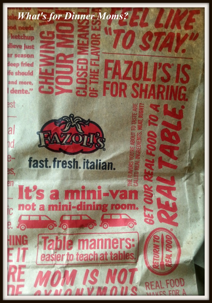 Fazoli's To-Go Bag