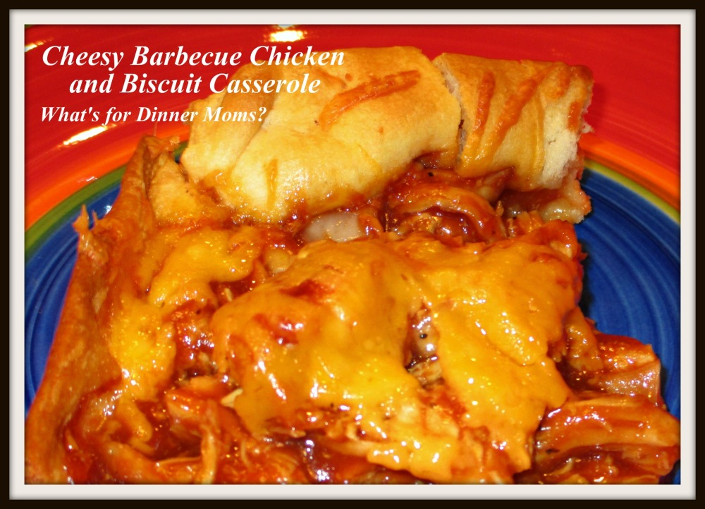 Cheesy Barbecue Chickem and Biscuit Casserole