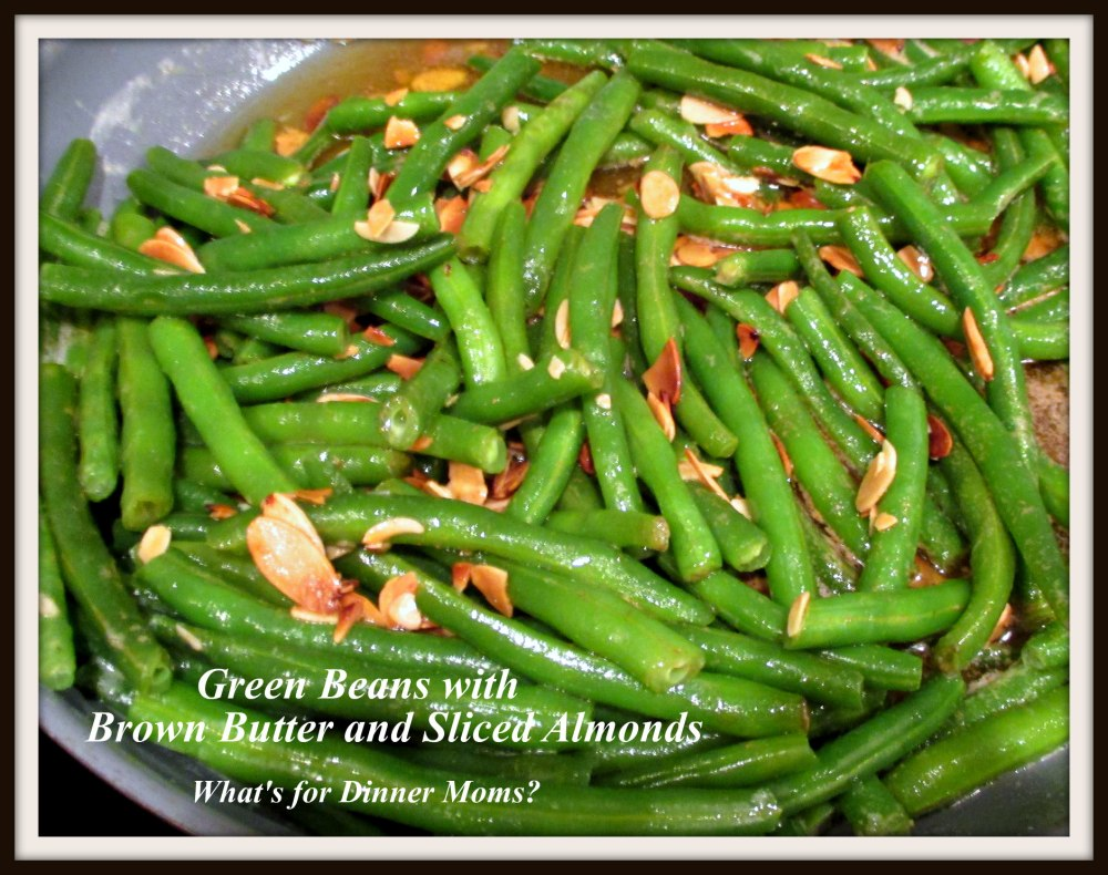 Green Beans with Brown Butter and Sliced Almonds